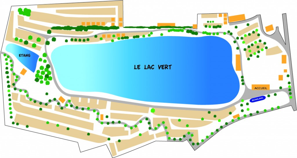 Plan lac vert plage - Doulcon - Meuse